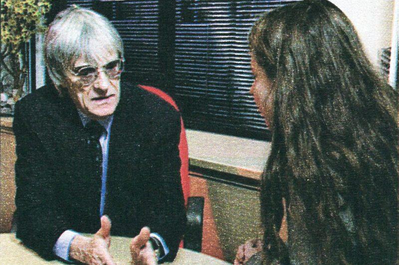 Judith Hornok im Gespräch mit Bernie Ecclestone